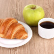 Royalty-Free Stock Photo: Classical breakfast. Coffee and croissant