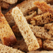 Stock Photo: Appetizing rusks close-up