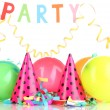 Party items isolated on white — Stockfoto
