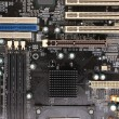 Modern electronic board. Motherboard close-up - Foto de Stock