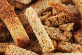 Appetizing rusks close-up — Stock Photo