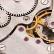 Clock mechanism close-up — Stockfoto