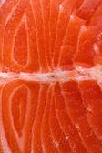 Fresh salmon steak close up — Stock Photo
