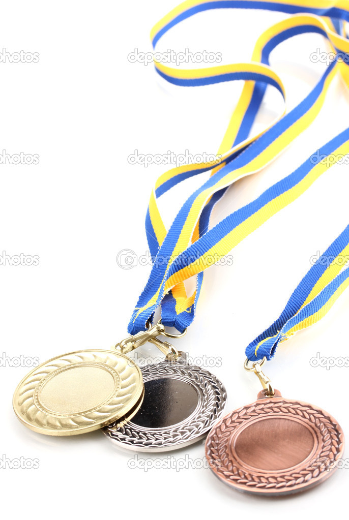 Three medals isolated on white — Stock Photo #9517889