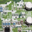 Modern electronic board close-up — Foto Stock