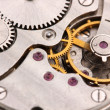Clock mechanism close-up — Stock Photo #9535626
