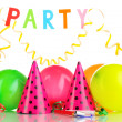 Party items isolated on white — Foto de Stock