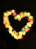 Bright heart bokeh background — Stock Photo