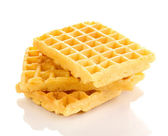 Sweet waffles isolated on white — Foto de Stock