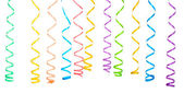 Beautiful colorful streamers isolated on white — Stock Photo