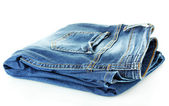Blue jeans isolated on white — Stockfoto