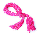 Bufanda mujer rosa brillante aislado en blanco — Foto de Stock