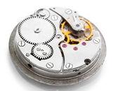 Mecanismo de relógio isolado no branco — Fotografia Stock