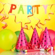 Stock Photo: Party items on orange background