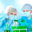 Two scientists working in chemistry laboratory — Stock Photo #9648280