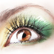 Beautiful female eye with bright make-up — Stock Photo