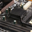 Stock Photo: Modern electronic board. Motherboard close-up