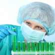 Young female scientist working in chemistry laboratory — Stock Photo #9782720