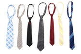 Ties isolated on white — Stock Photo