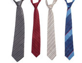 Bright ties isolated on white — Stock Photo