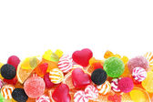 Colorful jelly candies isolated on white — Stock Photo