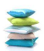 Almohadas luminosas aisladas en blanco — Foto de Stock