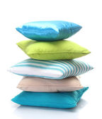 Bright pillows isolated on white — Foto de Stock