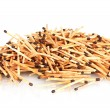Pile of matches isolated on white - Stock Photo
