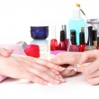 Manicure process in beautiful salon — Stock Photo #9847942