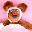 Sick bear in bed — Stock Photo #9848463