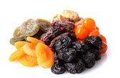 Dried fruits isolated on white — Foto Stock