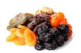 Frutta secca isolato su bianco — Foto Stock