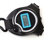elektronické sportovní časovač izolované na bílém — Stock fotografie
