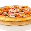 Aromatic pizza isolated on white — 图库照片