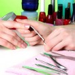 Manicure process in beautiful salon — Stock Photo #9949848