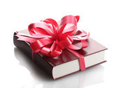 Red book for gift isolated on white — Stock Photo