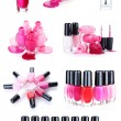A collage of some bottles of nail polish isolated on white — Stock Photo #9984318
