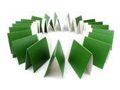 Muitas pastas verdes isoladas no branco — Foto Stock