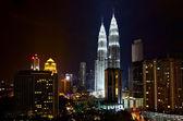 Petronas Towers at Night, Kuala Lumpur — Stock Photo