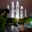 Stock Photo: Petronas Towers at Night, KualLumpur