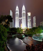 Petronas Towers at Night, Kuala Lumpur — Stock Photo