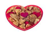 Valentine soubory cookie — Stock fotografie