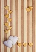 Sfondo San Valentino con biscotti — Foto Stock