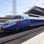 High-Speed-Zug in Bewegung — Stockfoto