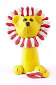 Plasticine lion — Stock Photo