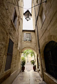 Narrow Street of Montpellier — Stock Photo