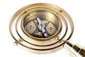 Bronze compass with a handle — Stock Photo