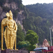 Stock Photo: Murugstatue at Batu Caves, KualLumpur