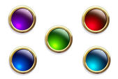 Multi-colored buttons on a white background — Stock Photo