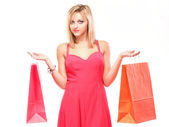 Lovely woman with shopping bags — Stock Photo